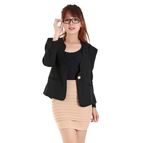 Áo vest nữ kiểu Hàn Quốc màu đen
