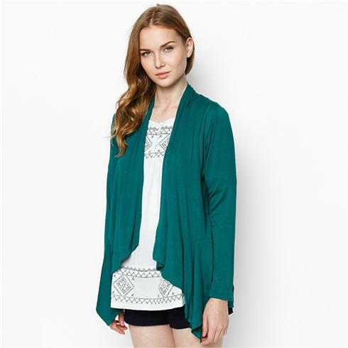 Áo khoác 2 trong 1 màu xanh rêu Cirino