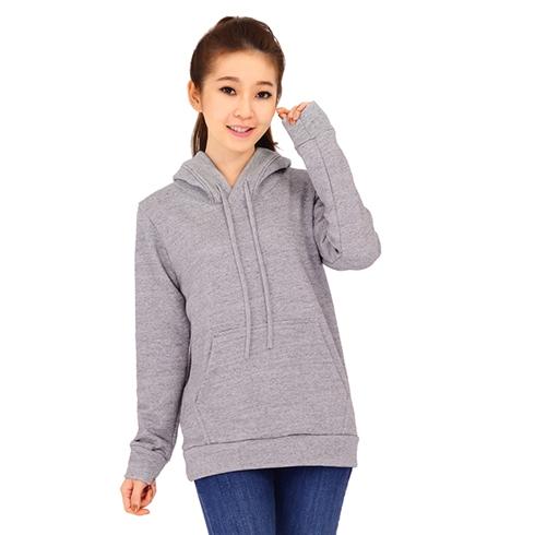 Áo khoác nữ hoodie màu xám Cirino