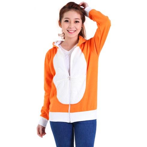 Áo khoác nữ Lotus 05 trắng phối cam