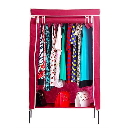 Tủ vải lắp ráp Trường Sơn 100 x 45 x 157 (cm) - Đỏ