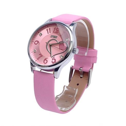Đồng hồ nữ dây da SKMEI SK047 - hồng
