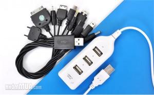 COMBO CỔNG CHIA USB VÀ CÁP SẠC ĐA NĂNG