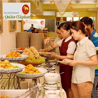 Nhóm Mua - Buffet trua cac mon Thai - Nha hang Con Voi Vang