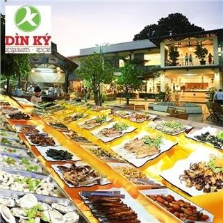 Nhóm Mua - Buffet toi hai san, lau, nuong - Nha hang Din Ky (thu 3 - CN)