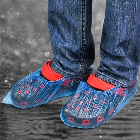 Combo 100 đôi bao nilon bọc giày dép đi mưa tiện dụng