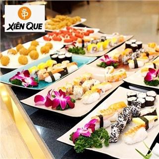 Nhóm Mua - Buffet goi mon sushi, xien que hon 90 mon tai Xien Que