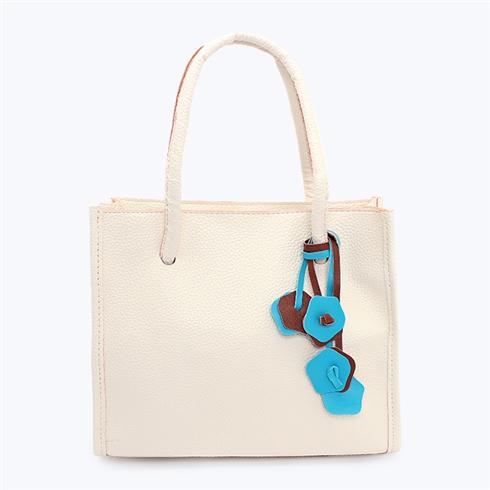 Túi xách nữ Vintage kiểu hoa treo hiệu Miracle trắng