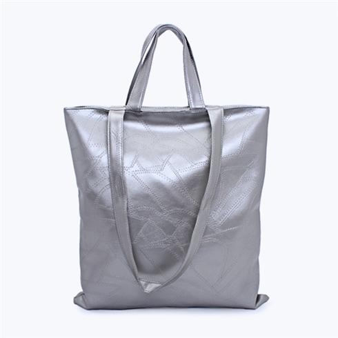 Túi xách thời trang da ghép màu bạc - Thương hiệu Miracle