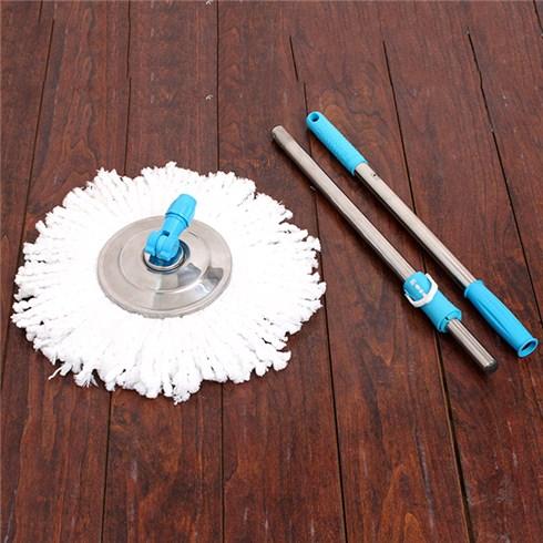 Cây lau nhà 360 độ đĩa inox hiệu Hào Hùng - xanh dương