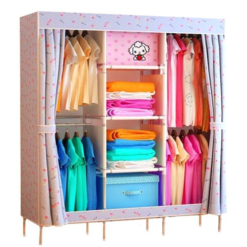 Tủ vải khung thép nhiều ngăn đựng đồ loại đại mẫu 11-3