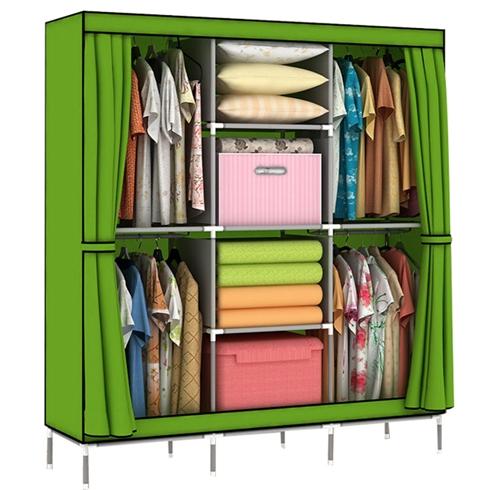 Tủ vải khung thép nhiều ngăn đựng đồ loại đại mẫu 9-2