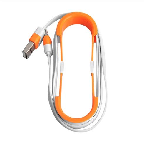 Cáp sạc Lightning dây dẹp viền màu cho iPhone 5/5S/6/6 Plus