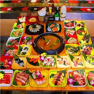 Nhóm Mua - Thuong thuc buffet lau bang chuyen va sushi tai Nha hang Osaka