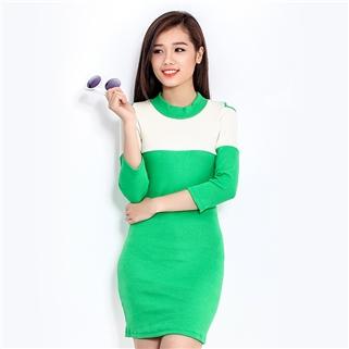 Nhóm Mua - Dam body cut out khoet vai mau xanh Cirino