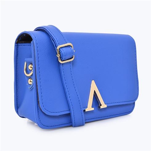 Túi xách nữ chữ V thời trang Sky xanh MS09
