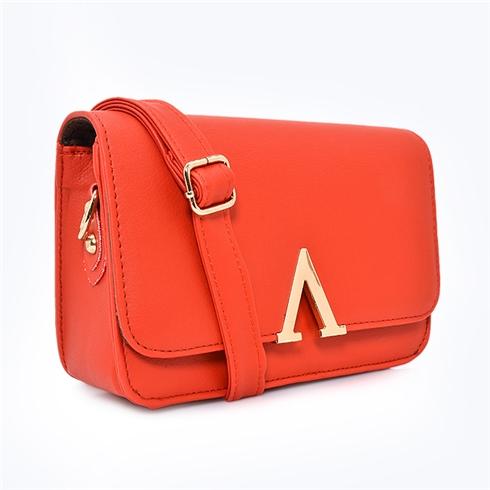 Túi xách nữ chữ V thời trang Sky đỏ MS11