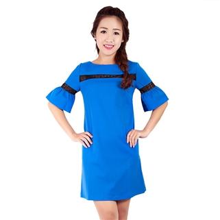 Nhóm Mua - Dam suong phoi ren tay loe Jolie mau xanh