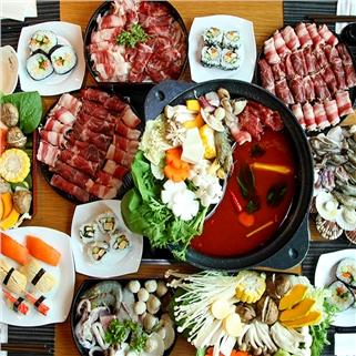 Nhóm Mua - Buffet toi lau bang chuyen Nhat, sushi, free kem, trang mieng