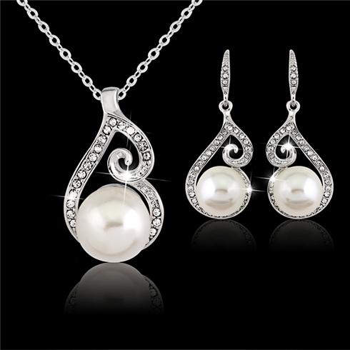 Bộ ngọc trai white pearl Violet