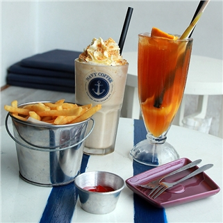 Nhóm Mua - Combo 2 do uong + do an tuy chon tai Navy Coffee