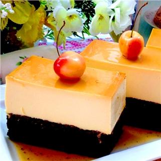 Nhóm Mua - Banh flan chocolate (14cm) thom ngon tai Green Farm