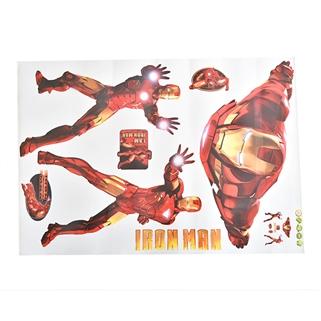 Nhóm Mua - Decal 3D cao cap dan tuong co can lua - loai 1- Iron Man