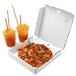 Nhóm Mua - Combo Pizza Xuc Xich Xong Khoi + 2 Tra Dao - Catch 22 Coffee