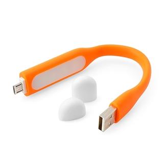Nhóm Mua - Den LED USB kiem cap sac MicroUSB cho dien thoai - mau cam