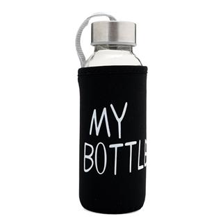 Nhóm Mua - Binh nuoc My bottle bang thuy tinh co tui chong vo - den