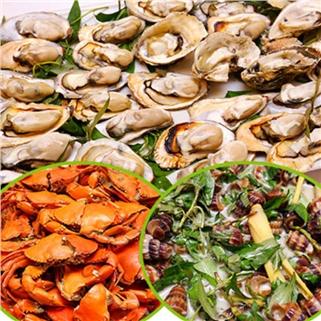 Nhóm Mua - Buffet trua 40 mon hai san tai Nha hang Tan Hoa Cau