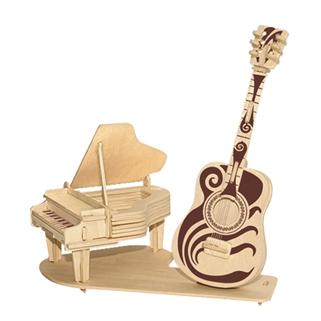Nhóm Mua - Mo hinh lap ghep go 3D - mau Piano va Guitar