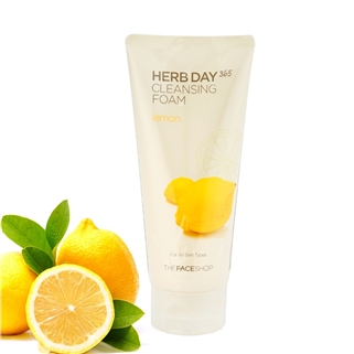 Nhóm Mua - Sua rua mat Herb Day 365 Cleansing Foam The Face Shop - Lemon