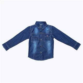 Nhóm Mua - Ao jeans phoi nut cho be tu 4-7 tuoi xanh