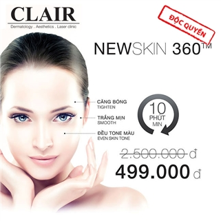 Nhóm Mua - Dieu tri da toan dien CN Newskin 360™ tai Clair Clinic va Spa