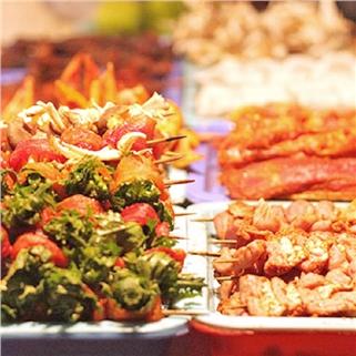 Nhóm Mua - Buffet BBQ hon 40 mon ( Co mon chay ) - Wabar SG - CN Q3