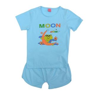 Nhóm Mua - Bo thun short cho be yeu Moon star - xanh da troi 4