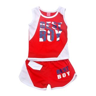 Nhóm Mua - Bo thun short ba lo Best Boy - do