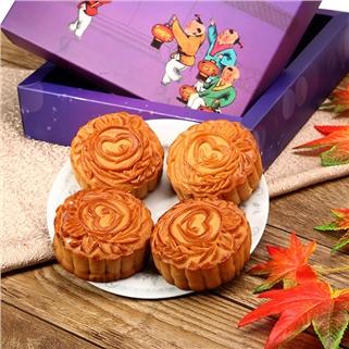 Nhóm Mua - Hop 4 banh nuong Trung Thu 1 trung (150g) tai Maxim's Bakery