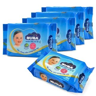 Nhóm Mua - 5 goi khan uot Nuna (30 to/goi) - Huong phan Baby diu nhe