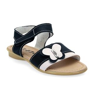 Nhóm Mua - Giay sandal be gai ket no buom, da that 100% - Mau den trang