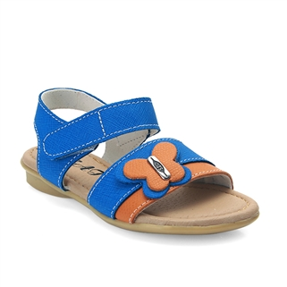 Nhóm Mua - Giay sandal be gai ket no buom, da that 100% - Mau xanh cam
