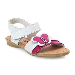 Nhóm Mua - Giay sandal be gai ket no buom, da that 100% - Mau trang hong