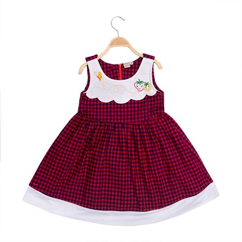 Đầm caro cho bé gái thương hiệu WINDY