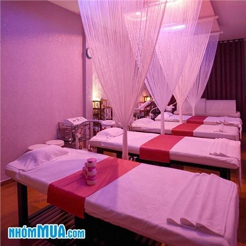 Massage body với tinh dầu/ đá nóng/ thảo dược tại Anna Belle