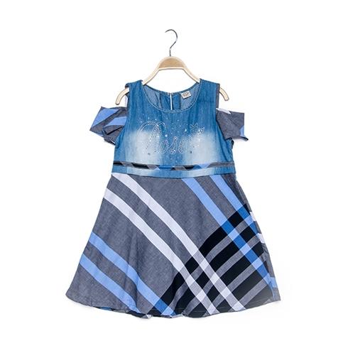 Đầm hở tay caro thương hiệu KEVEL
