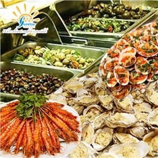 Nhóm Mua - Buffet trua hai san, Sushi cao cap- Khach san Sunrise Central