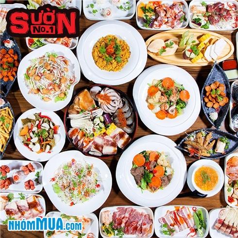 Buffet tối BBQ, bia không giới hạn - Sườn No.1 Nguyễn Huệ