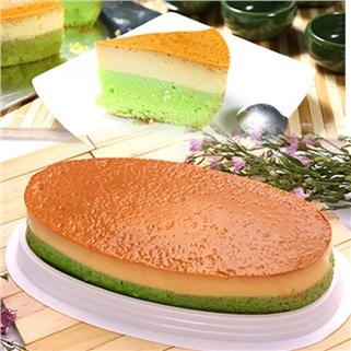 Nhóm Mua - Banh Flan Gato vi tra xanh/chocolate hinh oval - Michi Bakery