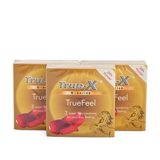Nhóm Mua - Combo 3 hop bao cao su cuc sieu mong True-X Truefeel